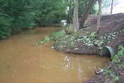 CSO discharge to tributary of Chartiers Creek